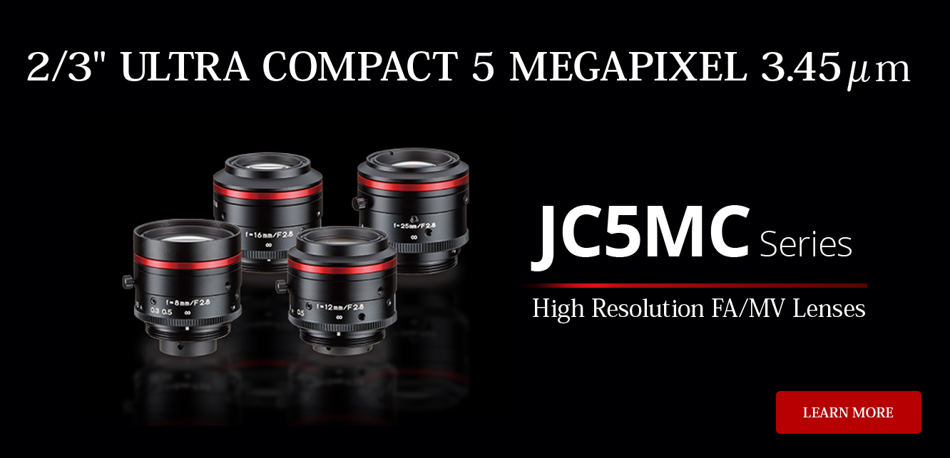 "2/3"" RUGGEDIZED WATER AND DUST RESISTANT MEGAPIXEL: JCM-V Series & JCM-WP Series, Learn More"